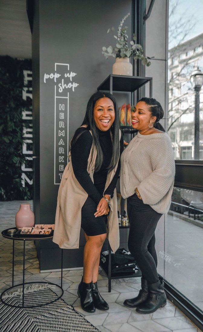 HERMARKET founders, Jazlin Pitts and Kia Perry PHOTO BY KAY MCCOY